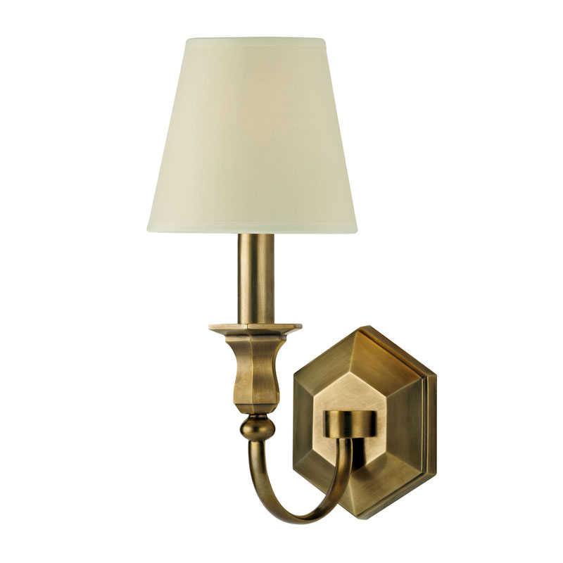 Hudson Valley 1411 Charlotte 14 Inch Tall 1 Lamp Wall Sconce With Eco-Paper Shade - HUD-1411