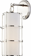 Hudson Valley 1500-PN Sovereign Contemporary Polished Nickel LED Lighting Sconce