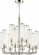 Hudson Valley 1726-PN Soriano Modern Polished Nickel Lighting Chandelier