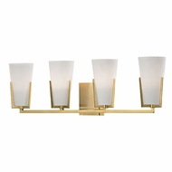 Hudson Valley 1804-AGB Upton Aged Brass Xenon 4-Light Bathroom Lighting
