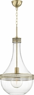 Hudson Valley 1814-AGB Hagen Contemporary Aged Brass 14 Entryway Light Fixture