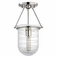 Hudson Valley 200-PN Willet Retro Polished Nickel Finish 14.75 Tall Ceiling Light