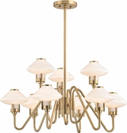 Hudson Valley 2009-AGB Knowles Aged Brass LED Chandelier Light