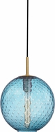 Hudson Valley 2010-AGB-BL Rousseau Modern Aged Brass 11.25  Drop Ceiling Light Fixture