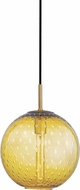 Hudson Valley 2010-AGB-LA Rousseau Contemporary Aged Brass 11.25  Pendant Light