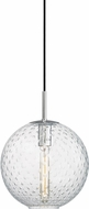 Hudson Valley 2010-PC-CL Rousseau Contemporary Polished Chrome 11.25  Hanging Light