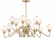 Hudson Valley 2012-AGB Knowles Aged Brass LED Chandelier Lamp