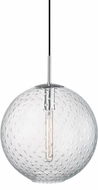 Hudson Valley 2015-PC-CL Rousseau Contemporary Polished Chrome 16  Ceiling Pendant Light