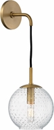 Hudson Valley 2020-AGB-CL Rousseau Modern Aged Brass 14 Lighting Sconce