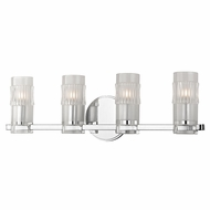 Hudson Valley 2024-PC Malone Modern Polished Chrome Xenon 4-Light Bath Light Fixture