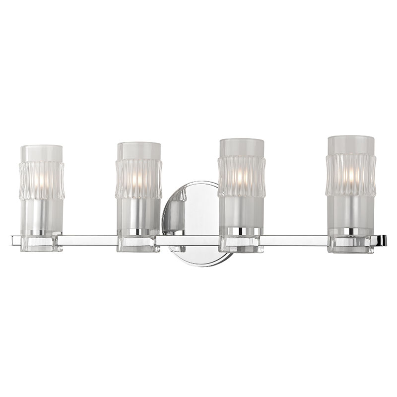 Hudson Valley 2024-PC Malone Modern Polished Chrome Xenon 4-Light ...
