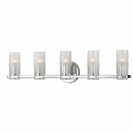 Hudson Valley 2025-PC Malone Modern Polished Chrome Xenon 5-Light Bathroom Light Fixture