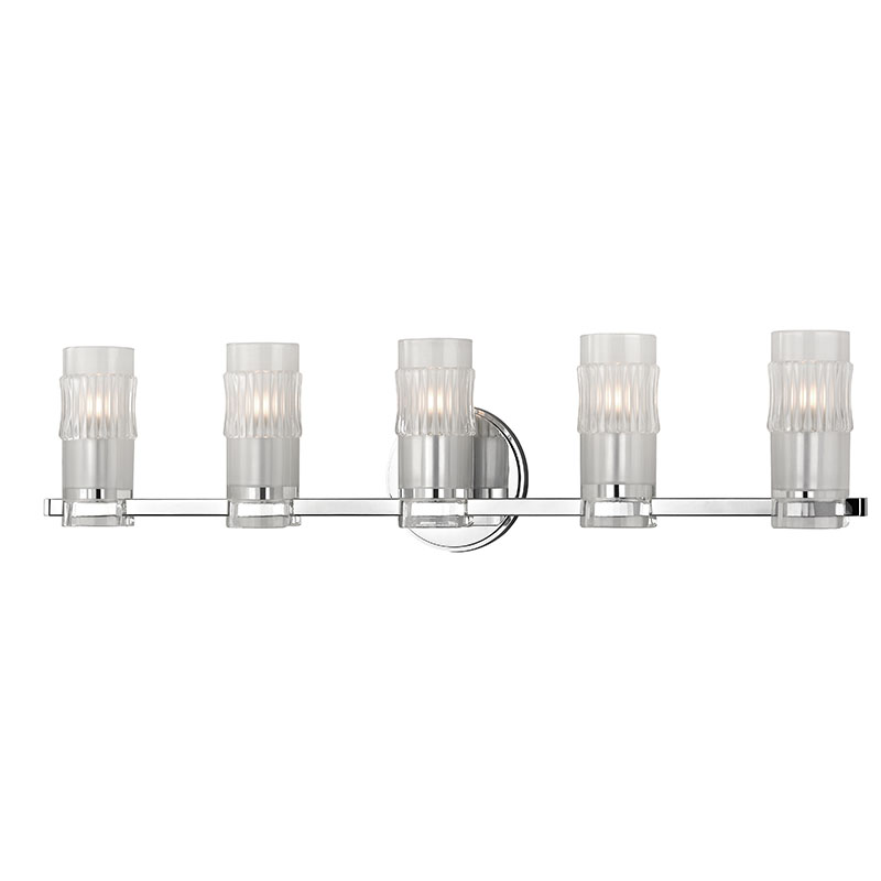Hudson Valley 2025 Pc Malone Modern Polished Chrome Xenon 5 Light.  Attractive Chrome Bathroom Vanity Light Fixtures ...