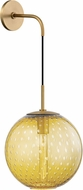 Hudson Valley 2030-AGB-LA Rousseau Contemporary Aged Brass 20 Wall Sconce Light