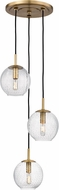 Hudson Valley 2033-AGB-CL Rousseau Modern Aged Brass Multi Lighting Pendant