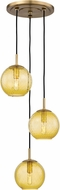 Hudson Valley 2033-AGB-LA Rousseau Contemporary Aged Brass Multi Pendant Lamp