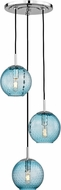 Hudson Valley 2033-PC-BL Rousseau Contemporary Polished Chrome Multi Hanging Light