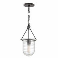 Hudson Valley 210-OB Willet Vintage Old Bronze Finish 9  Wide Mini Pendant Lighting