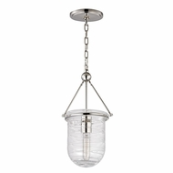 Hudson Valley 210-PN Willet Retro Polished Nickel Finish 16.75  Tall Mini Pendant Light