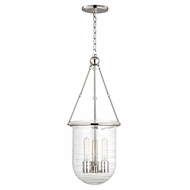 Hudson Valley 213-PN Willet Polished Nickel Finish 28.25  Tall Pendant Lamp