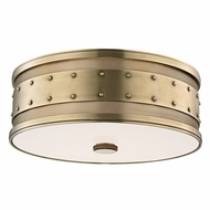 Hudson Valley 2206-AGB Gaines Vintage Aged Brass Finish 16 Wide Flush Mount Lighting