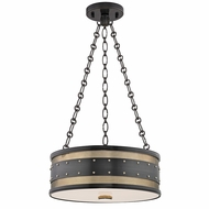Hudson Valley 2216-AOB Gaines Retro Aged Old Bronze Finish 43  Tall Drum Pendant Lighting Fixture