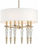 Hudson Valley 2324-AGB Persis Modern Aged Brass 24  Drum Hanging Pendant Light