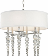 Hudson Valley 2324-PN Persis Contemporary Polished Nickel 24  Drum Pendant Hanging Light