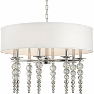 Hudson Valley 2330-PN Persis Contemporary Polished Nickel 30  Drum Drop Lighting