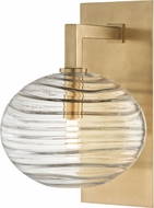 Hudson Valley 2400-AGB Breton Contemporary Aged Brass LED Wall Sconce Lighting