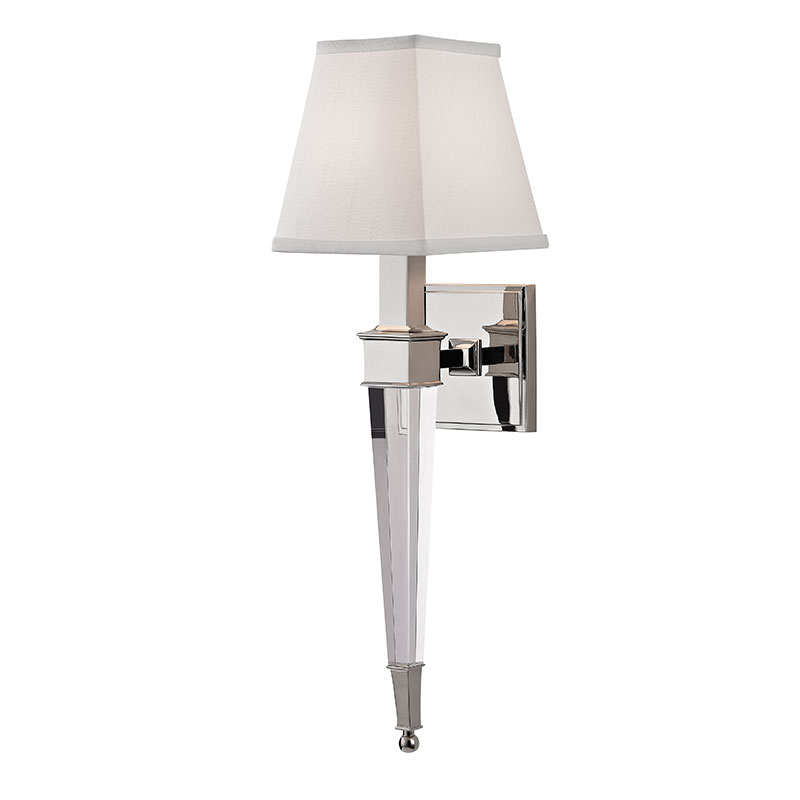 single polished sconce bathroom pamplin nickel light vanity