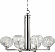 Hudson Valley 2418-PN Breton Modern Polished Nickel LED Chandelier Lighting