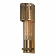 Hudson Valley 2611-AGB Meridian Retro Aged Brass Finish 11.75 Tall Wall Light Sconce