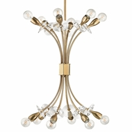 Hudson Valley 2712-AGB Alexandria Aged Brass Chandelier Light