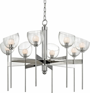 Hudson Valley 2808-PN Davis Modern Polished Nickel LED Lighting Chandelier