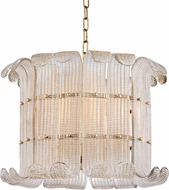Hudson Valley 2908-AGB Brasher Modern Aged Brass Hanging Lamp