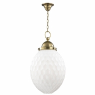 Hudson Valley 3014-AGB Columbia Aged Brass Hanging Lamp