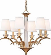 Hudson Valley 3196-AGB Marcellus Aged Brass Chandelier Light