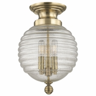 Hudson Valley 3200-AGB Coolidge Aged Brass Ceiling Light Fixture