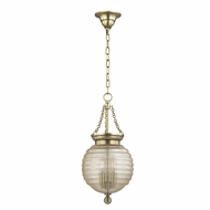Hudson Valley 3210-AGB Coolidge Aged Brass Mini Hanging Pendant Lighting
