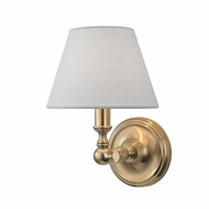Hudson Valley 3221-AGB Sidney Aged Brass Lamp Sconce