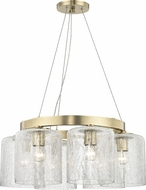 Hudson Valley 3224-AGB Charles Contemporary Aged Brass Mini Chandelier Light