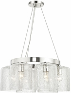 Hudson Valley 3224-PN Charles Contemporary Polished Nickel Mini Hanging Chandelier