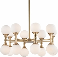 Hudson Valley 3316-AGB Astoria Contemporary Aged Brass LED Hanging Chandelier