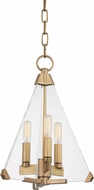 Hudson Valley 3333-AGB Triad Contemporary Aged Brass 12  Foyer Lighting