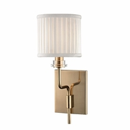 Hudson Valley 3351-AGB Gorham Aged Brass Finish 13.75 Tall Wall Lighting Fixture