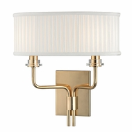 Hudson Valley 3352-AGB Gorham Aged Brass Finish 13.75 Tall Wall Lamp