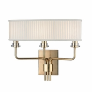 Hudson Valley 3353-AGB Gorham Aged Brass Finish 13.75 Tall Lighting Sconce