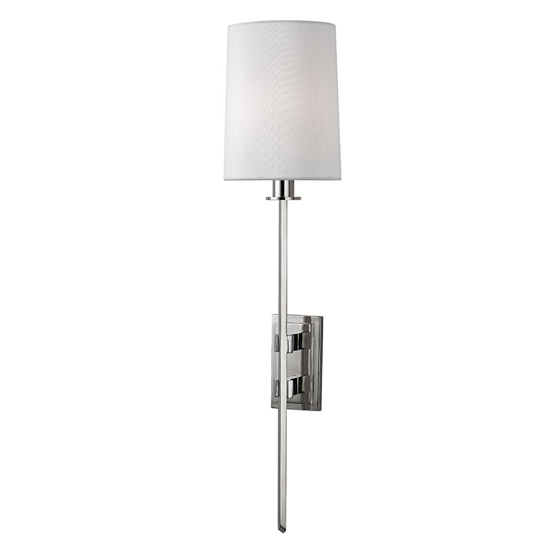 jefferson short single arm wall nickel products polished high sconce