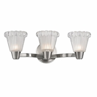 Hudson Valley 3443-SN Varick Satin Nickel Finish 18.5  Wide Xenon 3-Light Bathroom Light Fixture